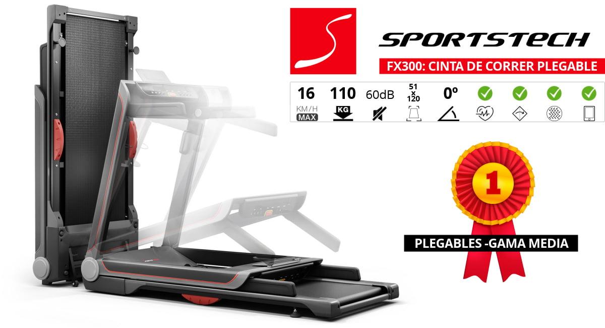 cinta correr plegable sportstech fx300